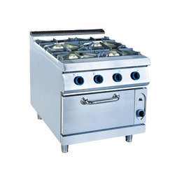 GLORIOUS PROFESSIONAL Stainless Steel Commercial Gas Burner With Oven, Number Of Knob: 5, Size: 32