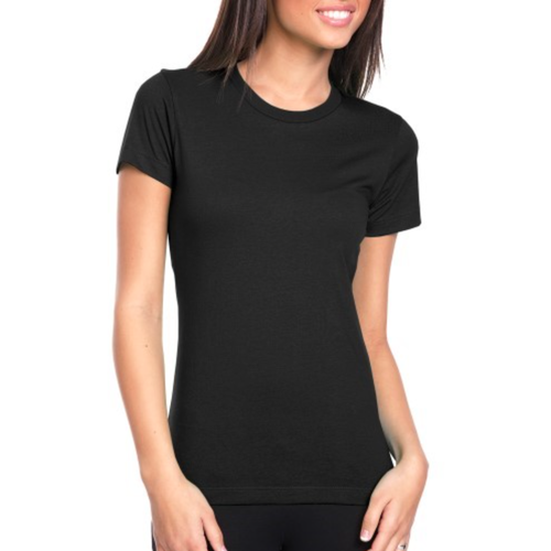 7772031b107f Ladies Half Sleeve Black Plain T Shirt, Size: S-XL, Rs 300 /piece ...