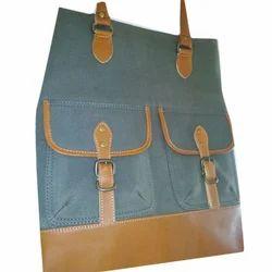 be838cd824e1 Blue And Brown Casual Wear Ladies Designer Handbags