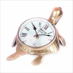 Aluminum Brass Antique Tourtise Room Clock 8