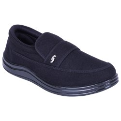 RNT Comfort Foam Black Casual Shoes, Size: 5-11