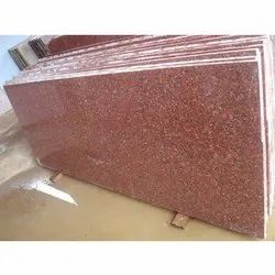 Slab Jhasi Red Granite, Thickness: 5-10 mm, for Flooring