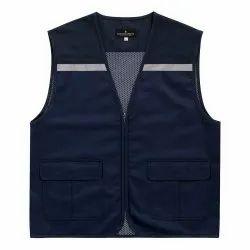 Uniforms & Work wear High Visibility Industrial Vest Jacket - Navy, Model Name/Number: UFB-022