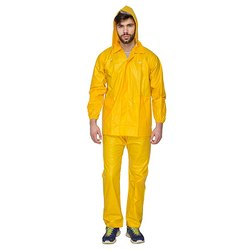 Yellow Not Reflective PVC Protective Work Wear Suit, Chemical
