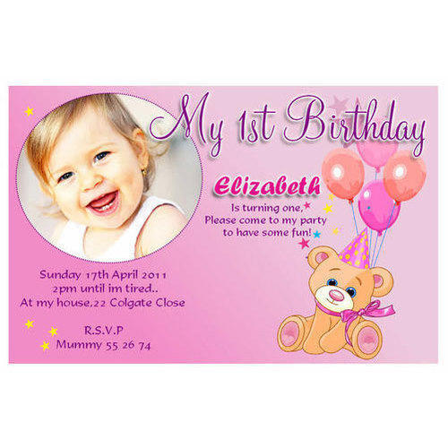 Rectangle Handmade Paper Birthday Invitation Card, Rs 15