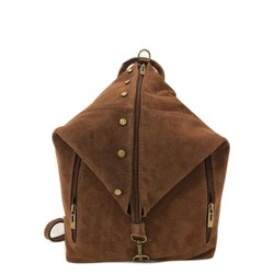 Brown Plain Ladies Modern Leather Handbag-Made in Italy