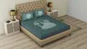 Peacock Print Cotton Double Bedsheets