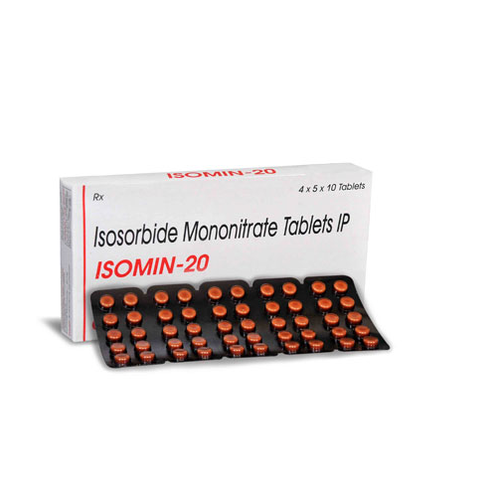 Isomin Isosorbide Mononitrate Tablets 20 mg, Packaging Size: 4 X 5 X 10, Packaging Type: Blisters
