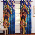 Barbie Print Digital Curtain