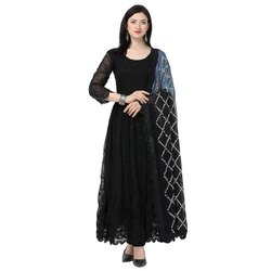 Party Wear Normal Salwar Georgette Unstitched Suits, Size: 44-45