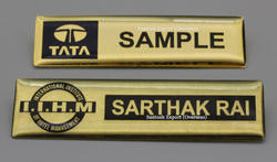 Stainless Steel Name Badge