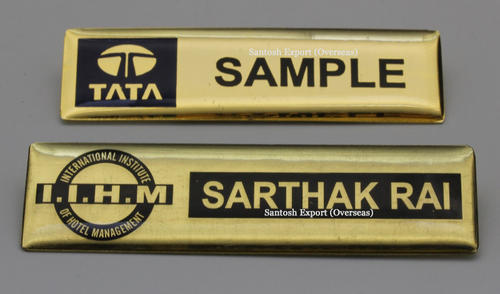 Badges - Stainless Steel Name Badge Manufacturer from New Delhi