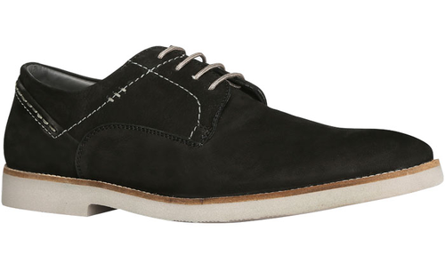 Smooth Leather Bata Black Casual Shoes