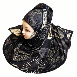 Women''s Printed Hijab Scarf Dupatta