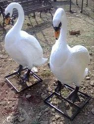 White Color Swan FRP Statue