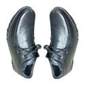 Amriwala Mens Leather Plain Black Formal Shoes, Size: 6-14
