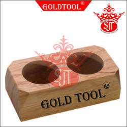 Gold Tool Acid Bottle Wooden Stand