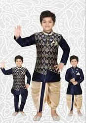 Silk Blue Boys Dhoti Indo, Size: 0-5 years