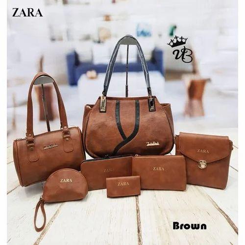 601131e0 Zara Brown Fancy Ladies Bags, Rs 900 /piece, Sultan Bag | ID ...