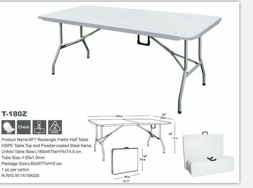 White Fiber Banquet Folding Table Seating Capacity 4 Size 24 X 48 Rs 3200 Piece Id 18845338930