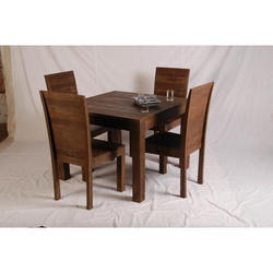 Wooden Brown 4 Seater Dining Set
