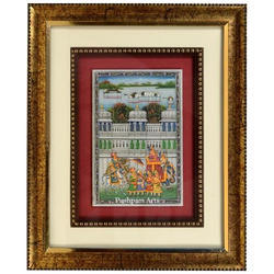Marble Royal Palace Procession Painting