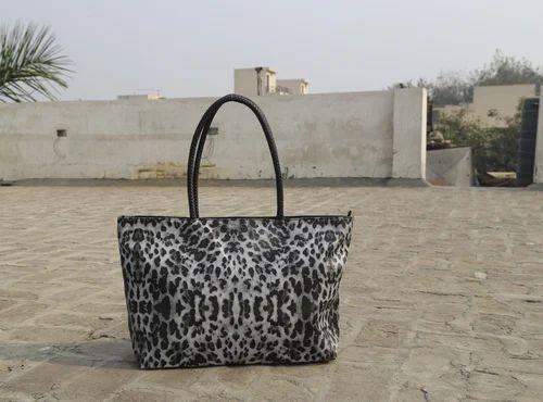 252ed2149b19 Legal Bribe Grey Leopard Print Tote Bag, Rs 470 /piece, Legal Bribe ...