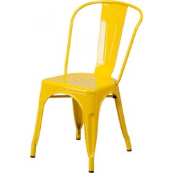 Metal Cafe Tolix Chair, Size: 45*45*85, Seating Capacity: 1