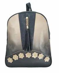 Multicolor P.U  Leather Girls Backpack