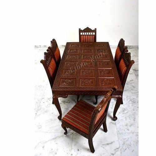 Carved Teak Magic Wardrobe.Carved Teakwood Dining Table Set