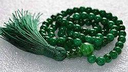 Kesar Zems Jade Mala (8 mm, Green) -108 and 1 Beads