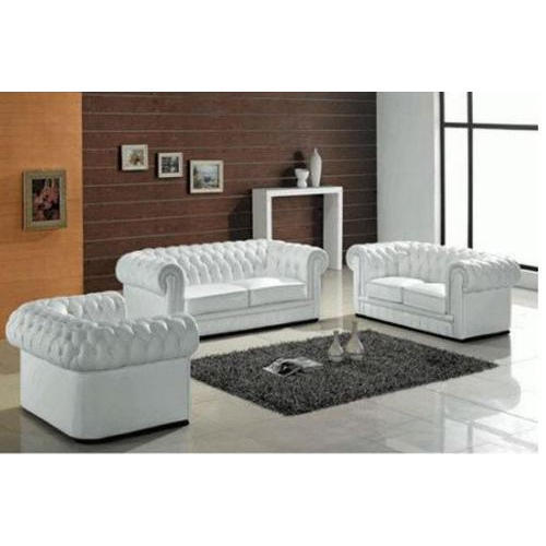White Chesterfield Sofa Set At Rs 15000 Set Designer Sofa Set