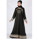 Fancy Black Lycra Abaya