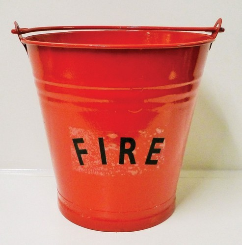 Fire Bucket Red Stainless steel commercial fire bucket 9 litre