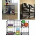 4 Cube Shelf Wire Modular Storage Organizer for Book, Toy Closet Cabinet
