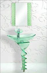 Glass Twist Bend Vanity Set