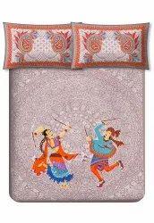 Rajasthani Dandiya Bedsheet For Double Bed