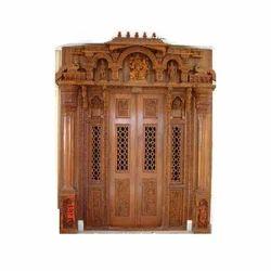 Wood Brown Carved Pooja Room Door, Rs 200000 /unit, Kiran ... on