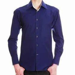 Cotton Blue Men's Plain Casual Shirt, Size: S,M,L,Xl,Xxl