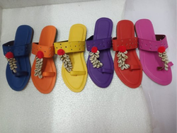 Colorful Traditional Kolhapuri Chappal