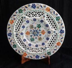 Lattice Marble Inlay Plate