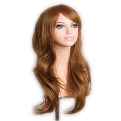Synthetic Ladywang Al Golden Curly Full Head Hair Wig