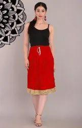 Multe Color Cotton Mini Skirt
