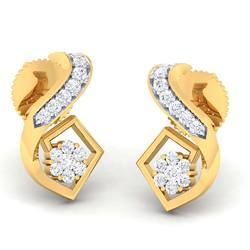 Full Standard Designed Diamond Gold Earring