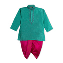 Kids Raw Silk Kids Dhoti Kurta