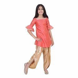 Cotton Party Wear Baby Girl West Suit Salwar Dress