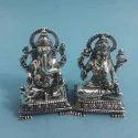 Silver Laxmi Ganesha Idol