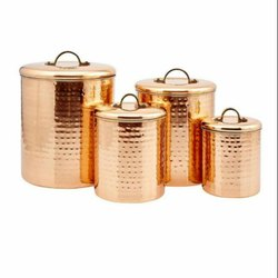 Copper Steel Canister Sets
