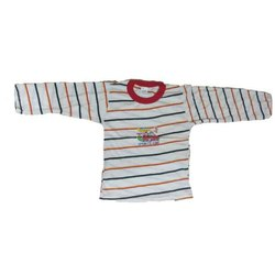 Cotton Stripes Kids Fancy Printed T Shirt, Size: 6-12 Year