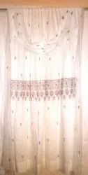 Curtain Chikankari Lucknowi Hand Embroidered, Size: Standard for Home